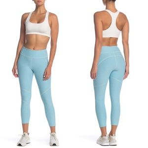 Outdoor Voices Warm-Up Crop Leggings - Pool Blue